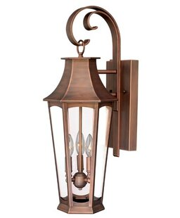 Reviews Wilberforce 3-Light Outdoor Wall Lantern By Darby Home Co