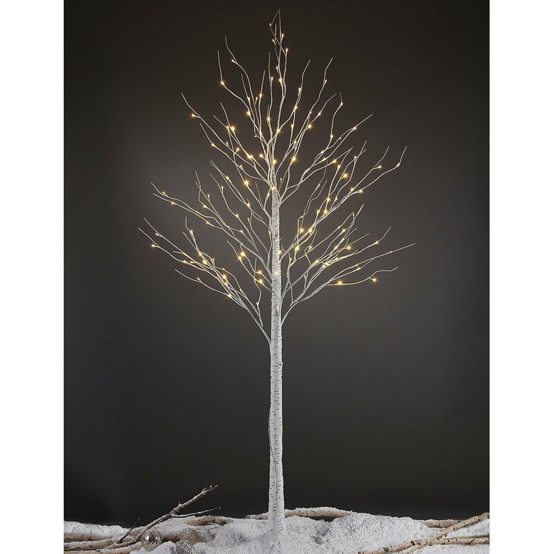 Pre-Lit Birch Tree 132 Light LED Lighted Tree
