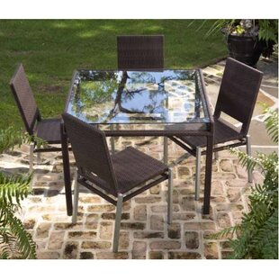 All-Weather Pacific 5 Piece Dining Set By Woodard