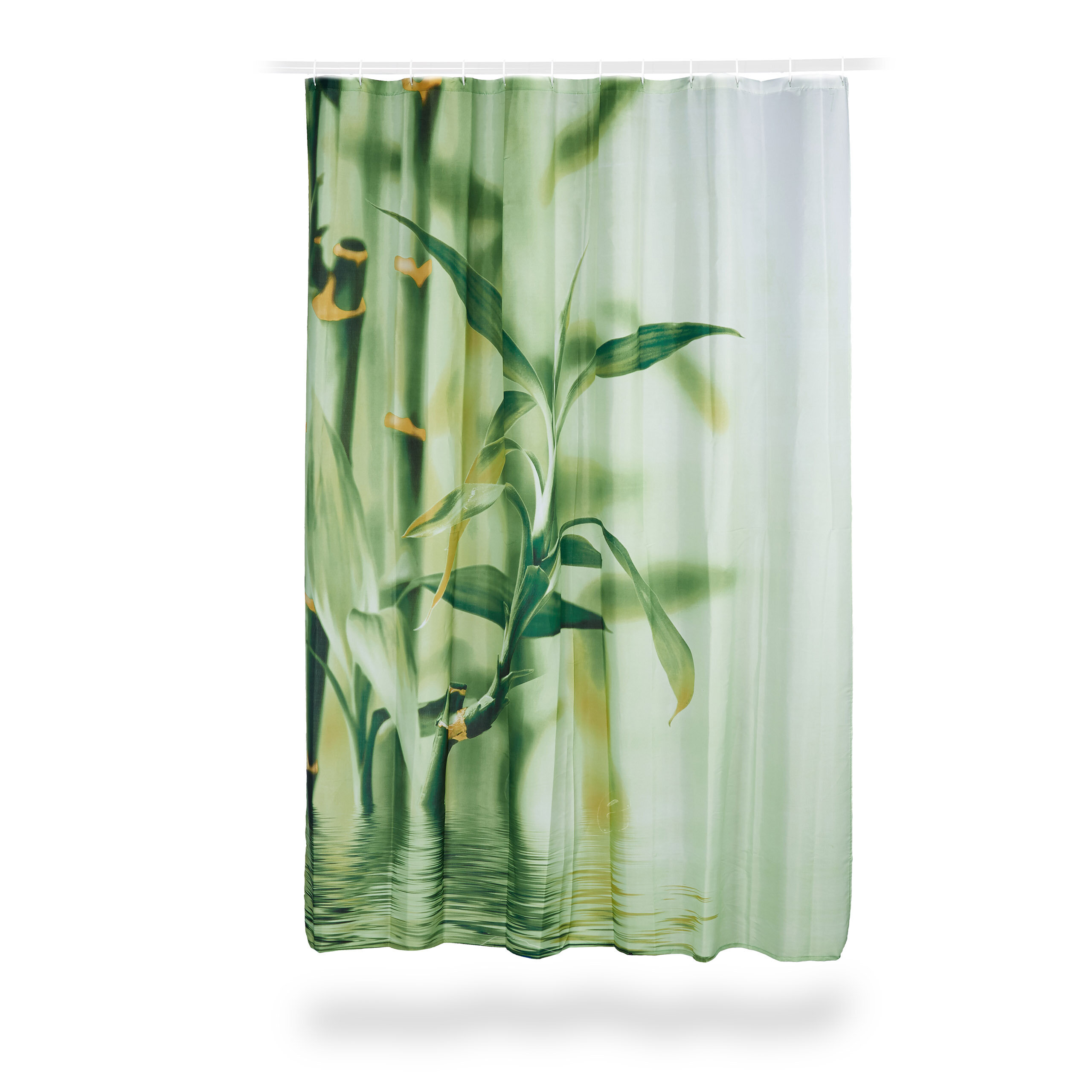 Polyester Bamboo Print Shower Curtain