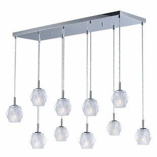 Orren Ellis Eddins Linear 10-Light Kitchen Island Pendant