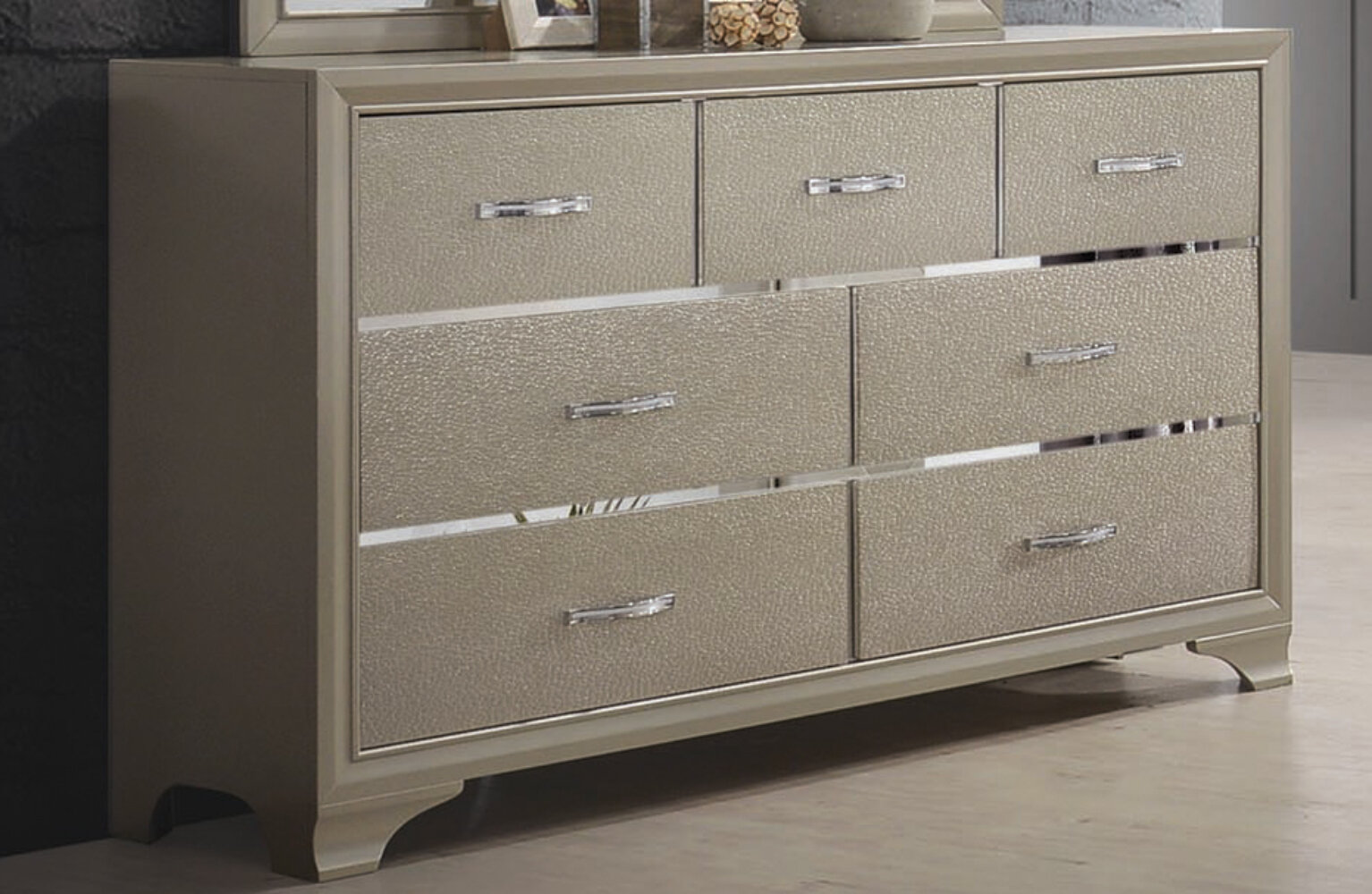 Rosdorf Park Mcafee 7 Drawer Double Dresser With Mirror Wayfair