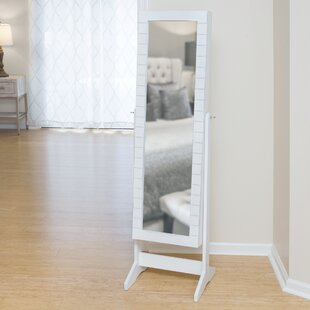 Compare & Buy Enedina Shiplap Cheval Jewelry Armoire with Mirror By Highland Dunes