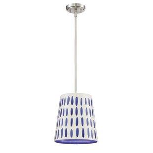 Ebern Designs Cesar 1 -Light Drum Pendant