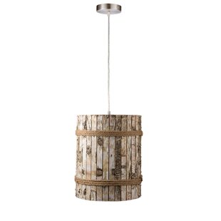 Varaluz Woody 1-Light Drum Pendant