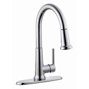 Design House Geneva Pull Out Single Handle Kitchen Faucet