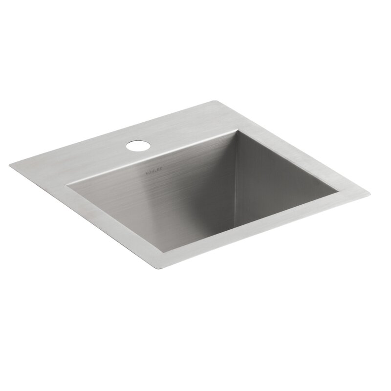 Charming Vault Top Mount/Under Mount Bar Sink With Single Faucet Hole