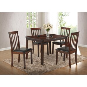 Tackett 5 Piece Dining Set by Three Posts