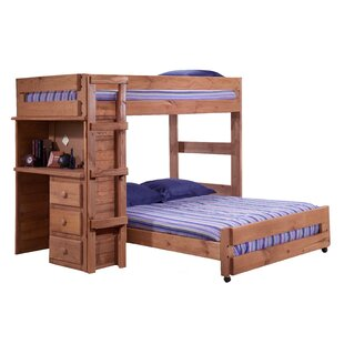 Chumbley Twin Over Full L-Shaped Bunk Bed with Desk