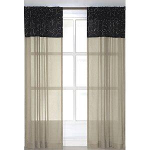 Sabattus Solid Sheer Rod Pocket Single Curtain Panel