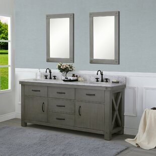 Review Cleora 72 Double Bathroom Vanity Set with Mirror by Williston Forge
