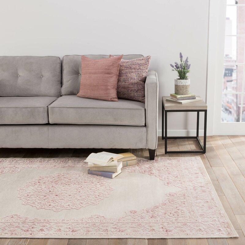 Fontanne Power Loom Ivory Baby Pink Area Rug Reviews Joss Main