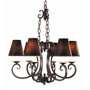 Montgomery 6-Light Shaded Chandelier by Woodbridge Lighting