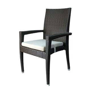 Venice Stacking Patio Dining Chair with Cushion (Set of 6)