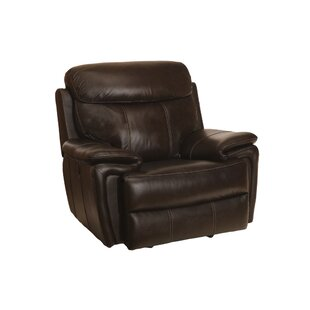 Koschwanez Leather Recliner Red Barrel Studio