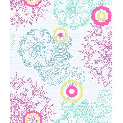 Floral 33 L X 21 W Peel And Stick Wallpaper Roll