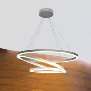 Chifdale 3-Light LED Geometric Chandelier by Wade Logan