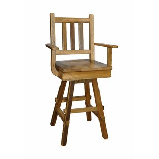 Toucha 30 Barnwood Swivel Bar Stools (Set of 2) Millwood Pines