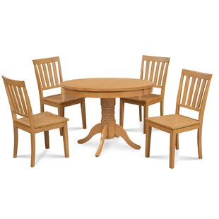 Cedarville 5 Piece Oak Solid Wood Dining Set Alcott Hill