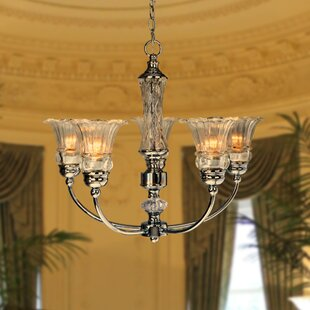 Rosdorf Park Hale 5-Light Shaded Chandelier
