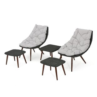 Patchett 5 Piece Conversation Set With Cushions by Wrought Studio Best