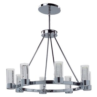 Orren Ellis Andi 8-Light Shaded Metal Chandelier
