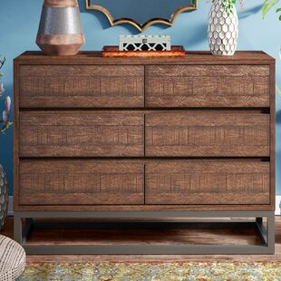 Affordable Price Cope 6 Drawer Double Dresser by Bungalow Rose