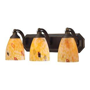 Affordable Price Carbone 3-Light Vanity Light By Bloomsbury Market