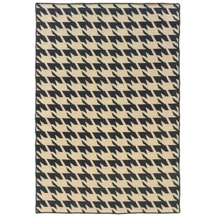 Price comparison Destinee Hand-Tufted Black/Beige Area Rug By Corrigan Studio