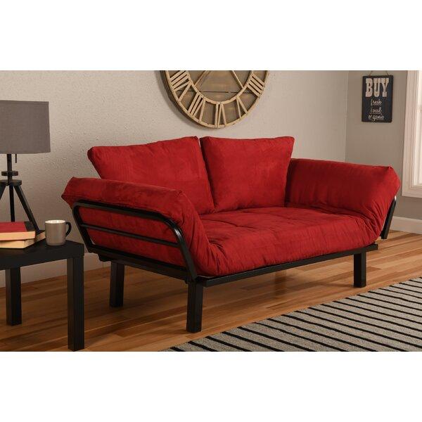 Red Leather Futon | Wayfair