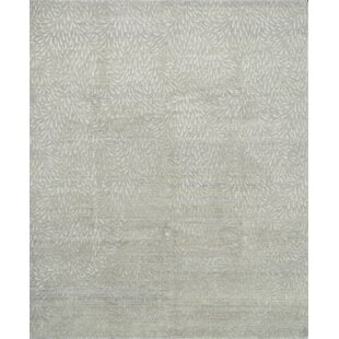Reviews Bandhe Hand-Knotted Mist/Pewter Area Rug By Winston Porter