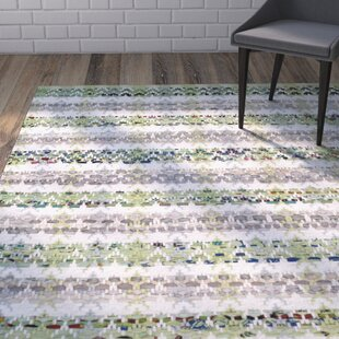 Reviews Ingleside Hand-Woven Green/Gray Area Rug By Wrought Studio