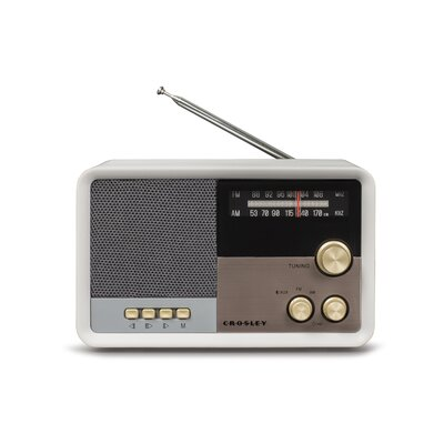 Tribute Radio Crosley Electronics Color: White Sand