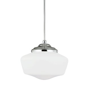 Beachcrest Home Panacea 1-Light Schoolhouse Pendant
