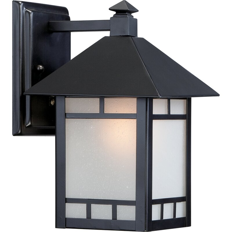 Oralia Stone Black 1 Bulb Outdoor Wall Lantern Reviews Joss Main