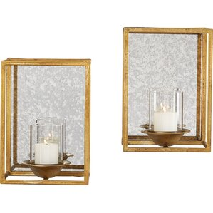 2 piece candle holder set of 2