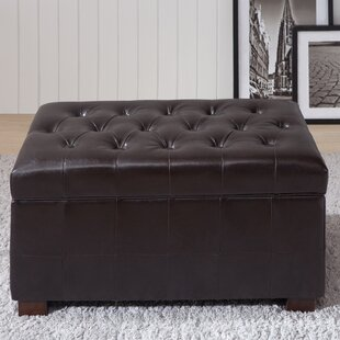 NOYA USA Castillian Leather Storage Bench