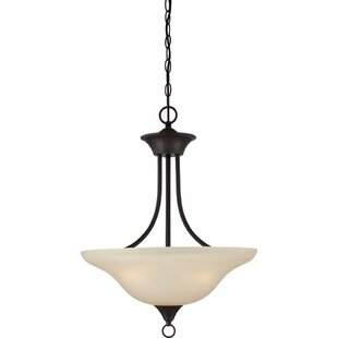 Whetsel 3-Light Semi Flush Mount by Fleur De Lis Living