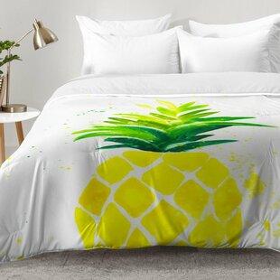 East Urban Home Pineapple Sunshine Comforter Set