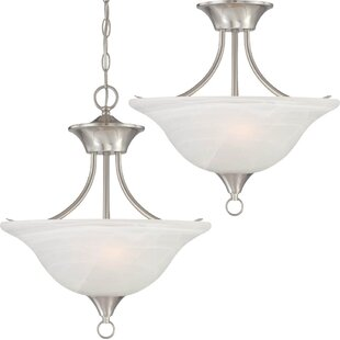 Fleur De Lis Living Whetsel 2-Light Pendant or Semi Flush Mount