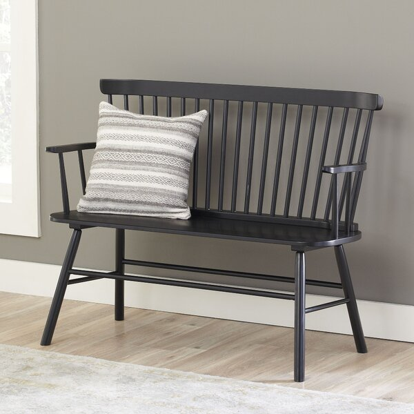 Shop Spindle Solid Wood Bench from Wayfair on Openhaus