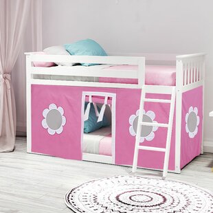 Fairlawn Twin Low Loft Bed with Underbed Curtains by Harriet Bee