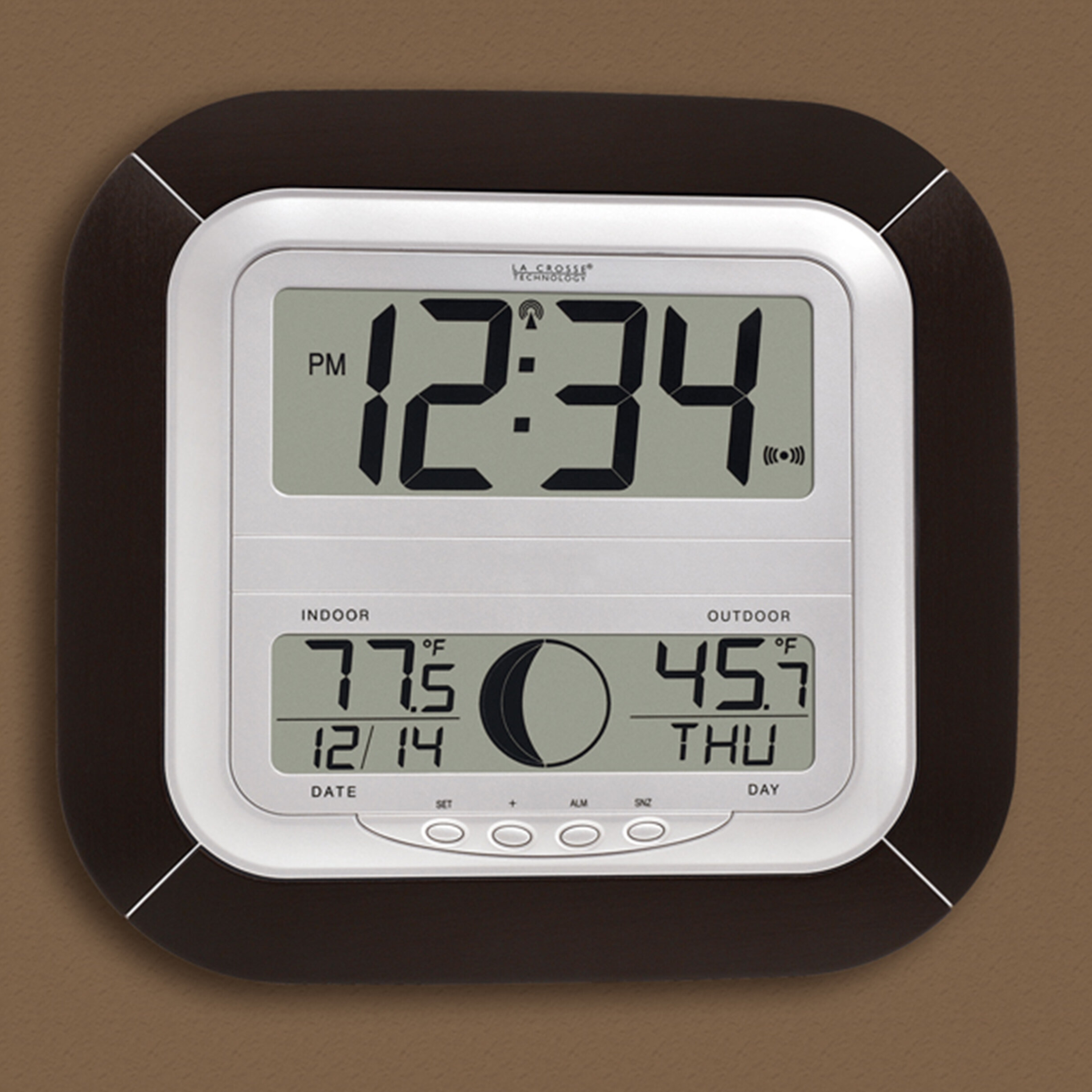 NEW PROFESSIONAL WIRELESS WEATHER STATION RADIO CLOCK WHITE MADE IN GERMANY