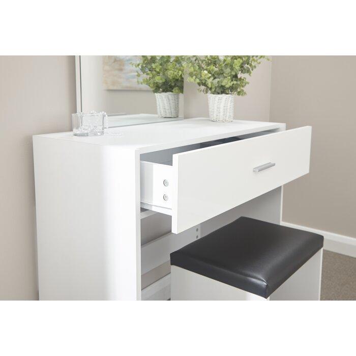 meet 7b6c5 68ca6 Tabatha Compact Dressing Table Set with Mirror