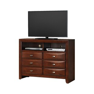 Plumwood Fully Assembled 6 Drawer TV Chest