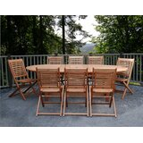 Mcquillen International Home Outdoor 9 Piece Dining Set