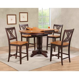 Double X- Back Counter Height 5 Piece Pub Table Set Iconic Furniture
