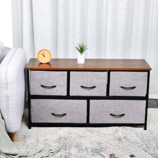 Affordable Price Kleist 2-Tier Fabric Storage Organizer 5 Drawer Dresser by Ebern Designs