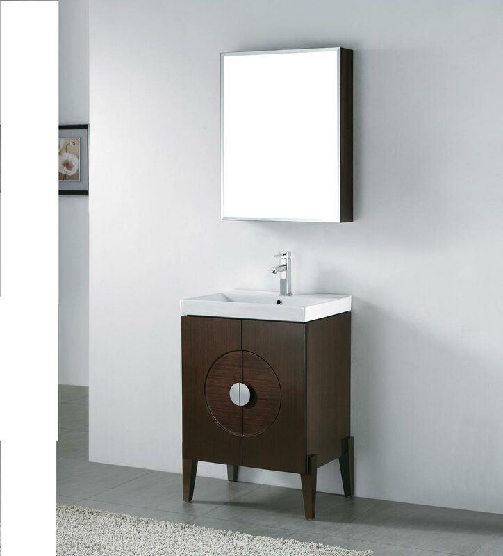 "madeli genova 24"" wall mount bathroom vanity base & reviews 