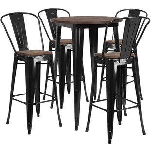 Procter 5 Piece Pub Table Set Williston Forge